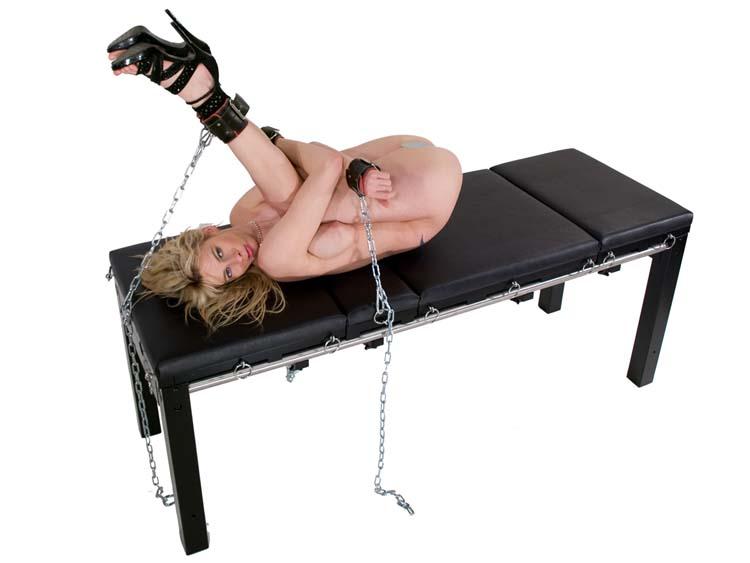 Brutal bondage sex for stephani moretti on a pool table